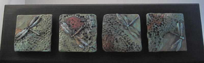 "Dragonfly Tiles Series for Wall, 24"" wide"